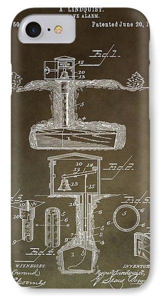 Antique Grave Alarm Patent IPhone Case by Dan Sproul