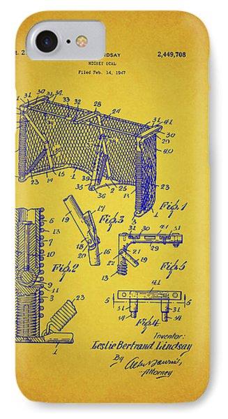 Antique Hockey Goal Patent IPhone Case