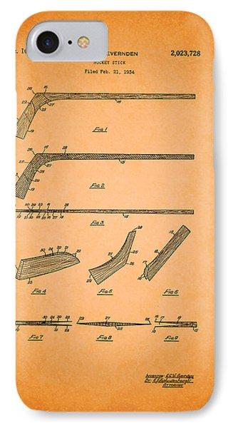 Antique Hockey Stick Patent 1935 IPhone Case