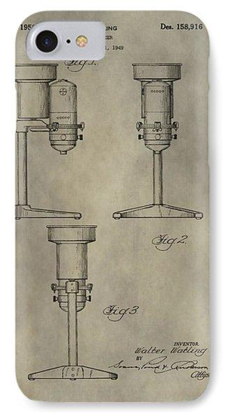 Antique Homogenizer Patent IPhone Case by Dan Sproul