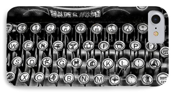 Antique Keyboard - Bw IPhone Case by Christopher Holmes