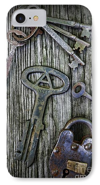 Antique Keys And Padlock Phone Case by Paul Ward