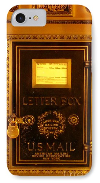 Antique Letter Box At The Brown Palace Hotel Phone Case by John Malone
