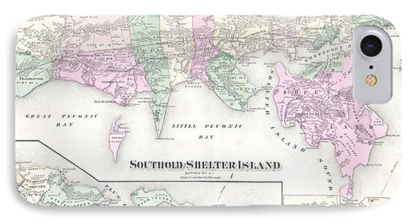 Antique Long Island Map IPhone Case