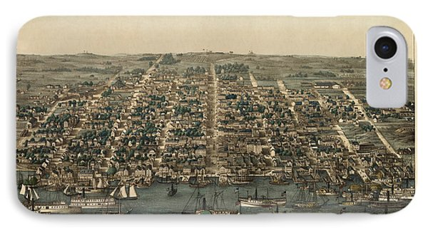 Antique Map Of Alexandria Virginia By Charles Magnus - 1863 IPhone Case
