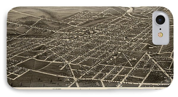 Antique Map Of Ann Arbor Michigan By A. Ruger - 1880 IPhone Case