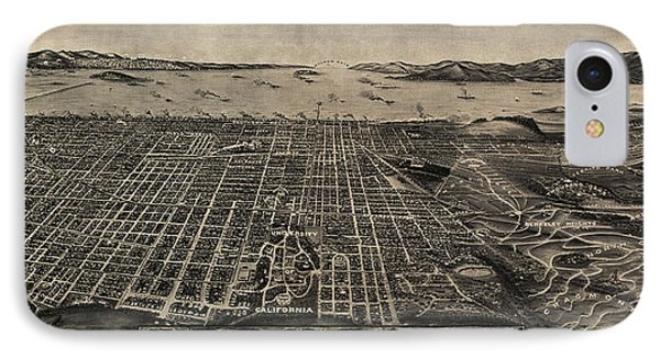 Antique Map Of Berkeley California By Charles Green - Circa 1909 Phone Case by Blue Monocle