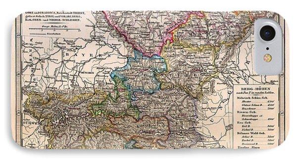 Antique Map Of Bohemia And Austria 1862 IPhone Case