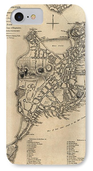 Antique Map Of Boston By William Faden - 1777 IPhone Case