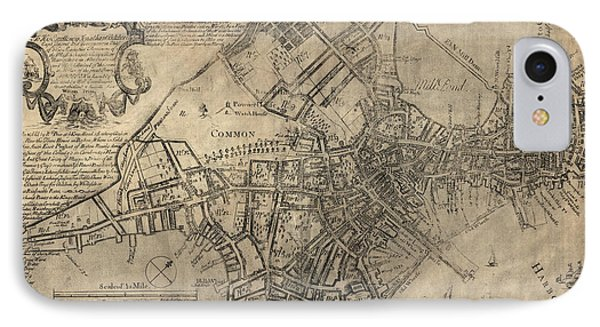 Antique Map Of Boston By William Price - 1769 IPhone Case by Blue Monocle