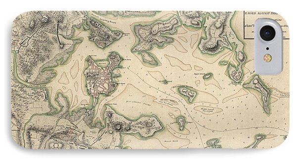 Antique Map Of Boston Massachusetts By Thomas Hyde Page - Circa 1775 IPhone Case by Blue Monocle