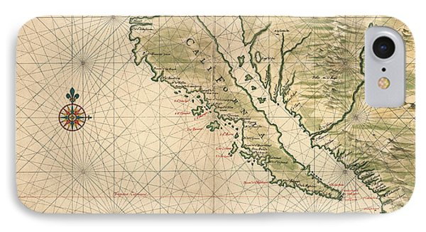 Antique Map Of California As An Island By Joan Vinckeboons - 1650 IPhone Case by Blue Monocle
