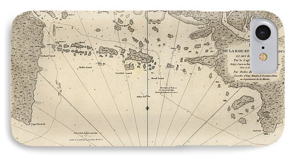 Antique Map Of Casco Bay And Portland Maine By Cyprian Southack - 1779 IPhone Case by Blue Monocle
