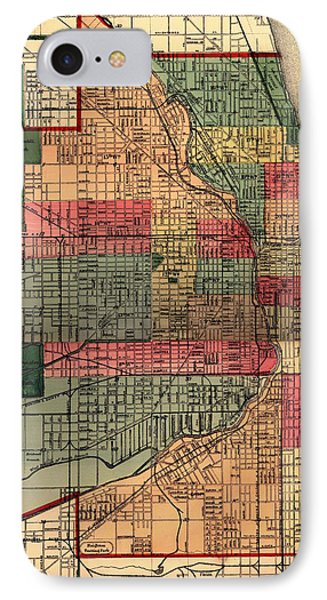 Antique Map Of Chicago 1875 IPhone Case