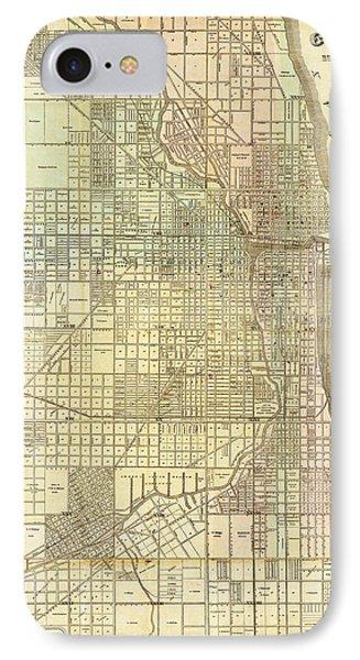 Antique Map Of Chicago IPhone Case