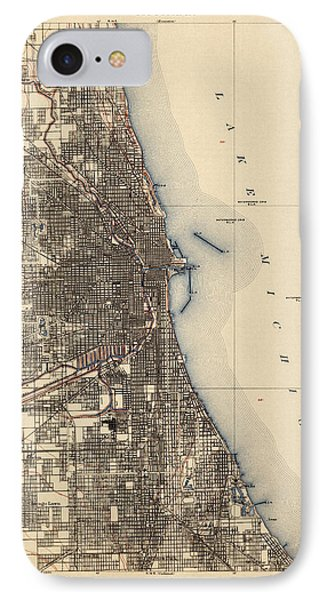 Antique Map Of Chicago - Usgs Topographic Map - 1901 IPhone Case