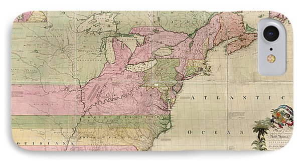 Antique Map Of Colonial America By John Mitchell - 1755 IPhone Case by Blue Monocle