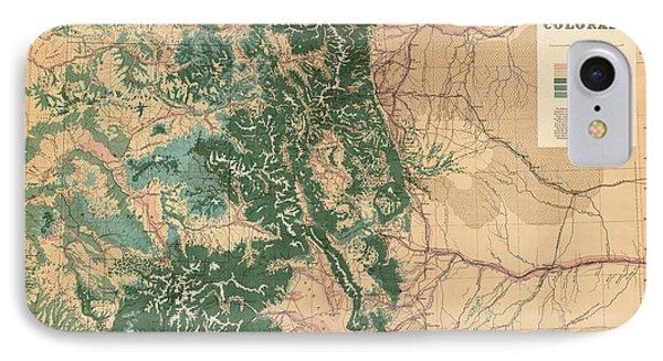 Antique Map Of Colorado - 1877 IPhone Case