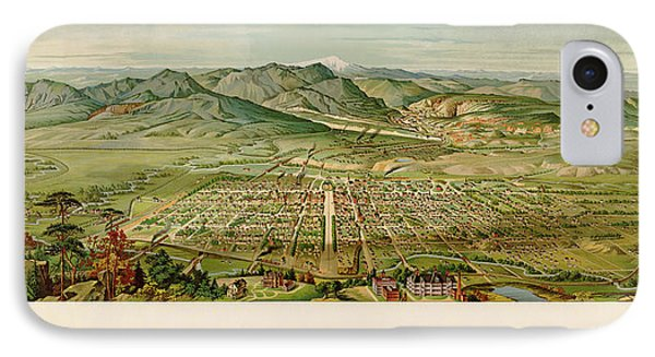 Antique Map Of Colorado Springs By H. Wellge - 1890 IPhone Case