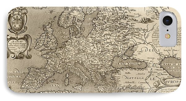Antique Map Of Europe By Arnoldo Di Arnoldi - Circa 1600 Phone Case by Blue Monocle