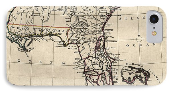 Antique Map Of Florida And The Southeast By Thomas Jefferys - 1768 IPhone Case
