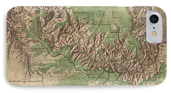 Antique Map Of Grand Canyon National Park By The National Park Service - 1926 Phone Case by Blue Monocle