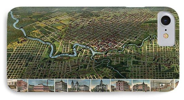 Antique Map Of Houston Texas - 1891 IPhone Case