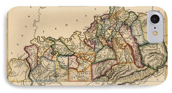 Antique Map Of Kentucky By Fielding Lucas - Circa 1817 IPhone Case