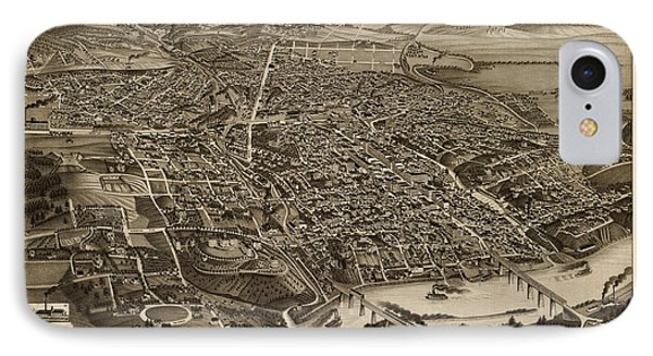 Antique Map Of Knoxville Tennessee By H. Wellge - 1886 Phone Case by Blue Monocle