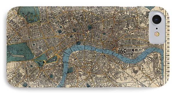 Antique Map Of London By C. Smith And Son - 1860 IPhone Case by Blue Monocle