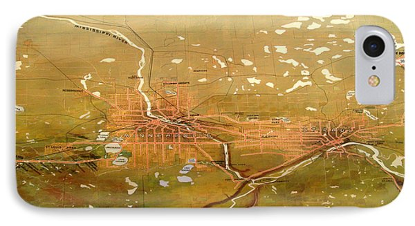 Antique Map Of Minneapolis And St Paul 1904 IPhone Case