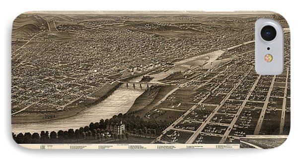 Antique Map Of Minneapolis Minnesota By A. Ruger - 1879 IPhone Case
