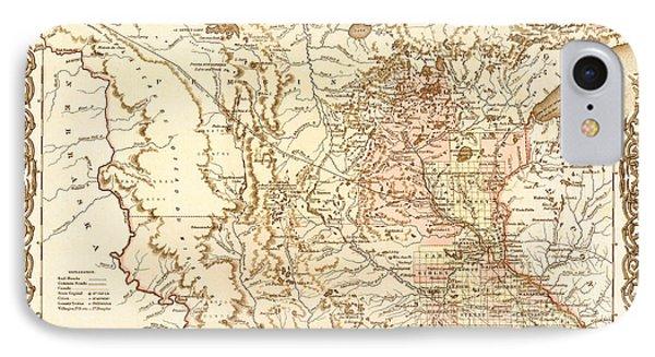 Antique Map Of Minnesota 1855 IPhone Case