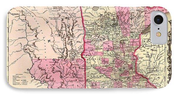 Antique Map Of Minnesota And The Dakota Territory 1862 IPhone Case