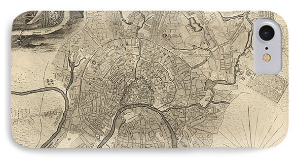 Antique Map Of Moscow Russia By Ivan Fedorovich Michurin - 1745 IPhone 7 Case by Blue Monocle