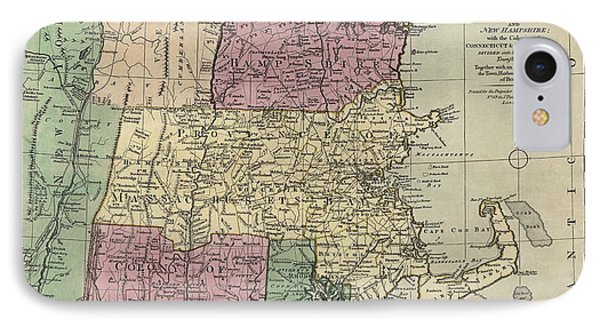Antique Map Of New England By Carington Bowles - Circa 1780 IPhone Case
