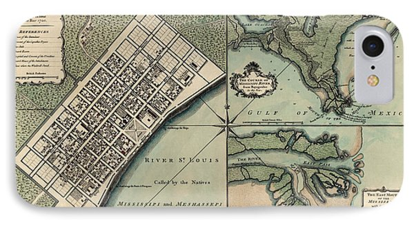 Antique Map Of New Orleans By Thomas Jefferys - 1759 IPhone Case by Blue Monocle