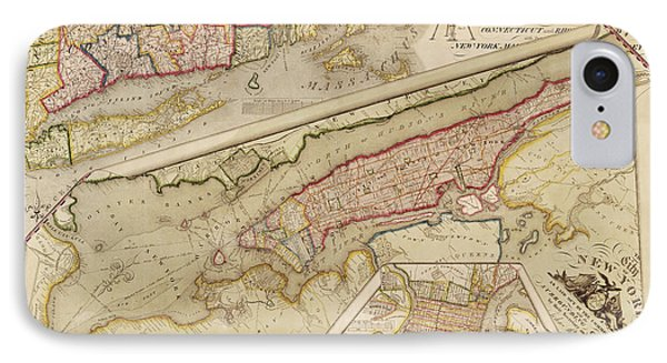 Antique Map Of New York City By John Randel - 1821 IPhone Case