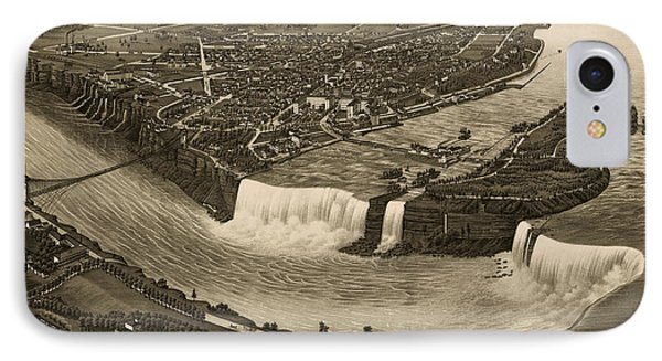 Antique Map Of Niagara Falls New York By H. Wellge - 1882 IPhone Case