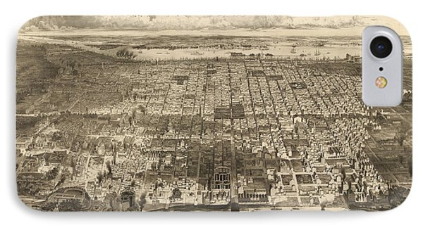 Antique Map Of Philadelphia By John Bachmann - 1857 Phone Case by Blue Monocle