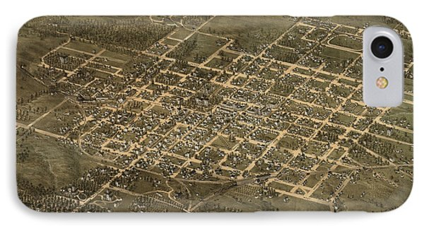 Antique Map Of Raleigh North Carolina By C. N. Drie - 1872 IPhone Case by Blue Monocle