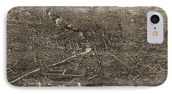 Antique Map Of Rochester New York By H.h. Rowley And Co. - 1880 IPhone Case by Blue Monocle