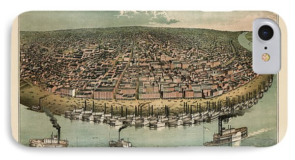 Antique Map Of Saint Louis Missouri By A. Janicke And Co. - Circa 1859 IPhone Case