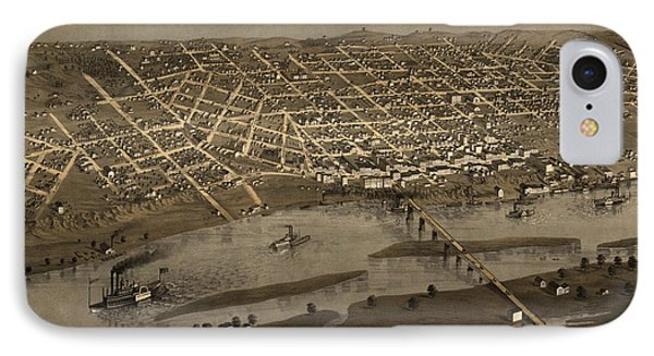 Antique Map Of Saint Paul Minnesota By A. Ruger - 1867 IPhone Case