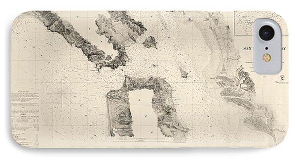Antique Map Of San Francisco - Usgs Coast Survey Map - 1859 IPhone Case by Blue Monocle