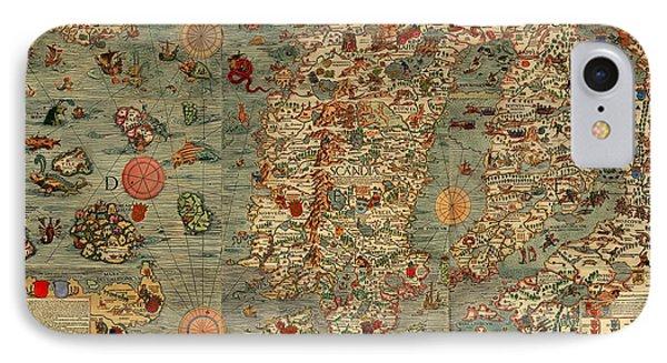 Antique Map Of Scandinavia 1539 IPhone Case