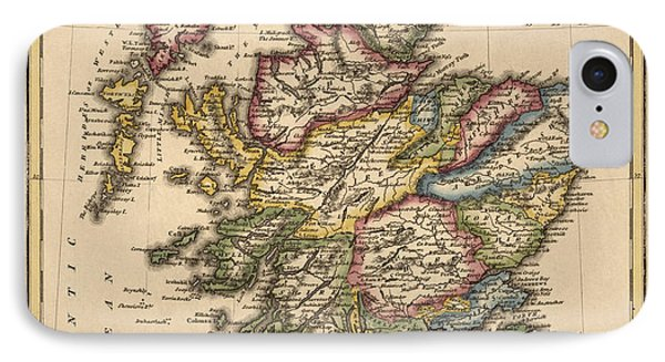 Antique Map Of Scotland By Fielding Lucas - Circa 1817 IPhone Case