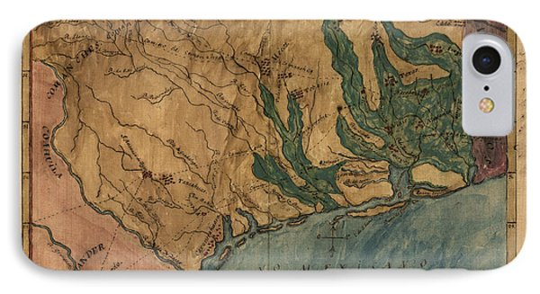 Antique Map Of Texas By Stephen F. Austin - Circa 1822 IPhone Case