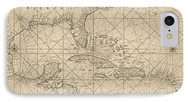 Antique Map Of The Caribbean By Johannes Loots - Circa 1705 IPhone Case