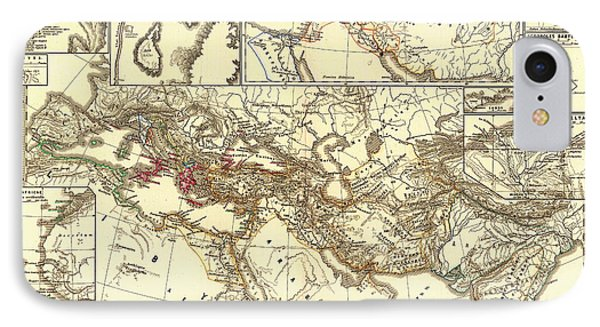 Antique Map Of The Persian Empire IPhone Case by Mountain Dreams